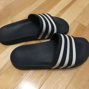 Adidas adilette women's sandals. Navy